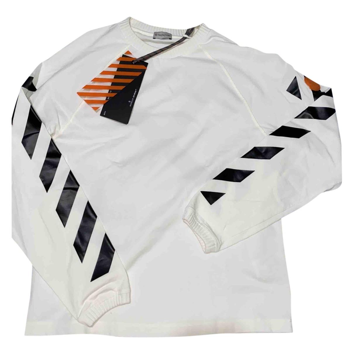Moncler X Off-white \N Pullover.Westen.Sweatshirts  in  Weiss Baumwolle
