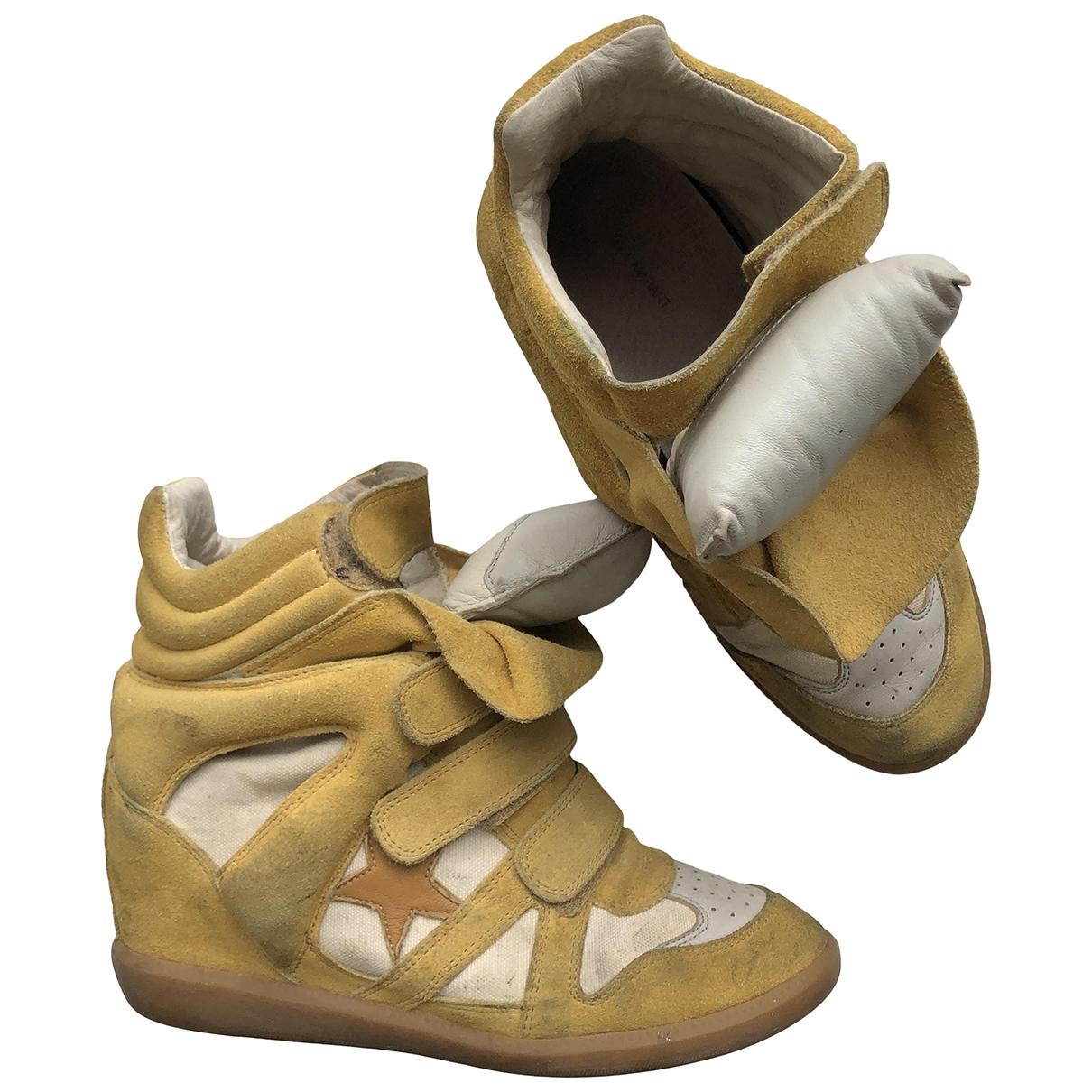 Isabel Marant Beckett Sneakers in  Gelb Veloursleder