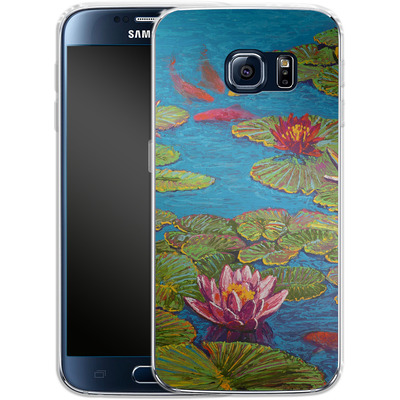 Samsung Galaxy S6 Silikon Handyhuelle - Will Cormier - Six Koi in Lilly Pond von TATE and CO