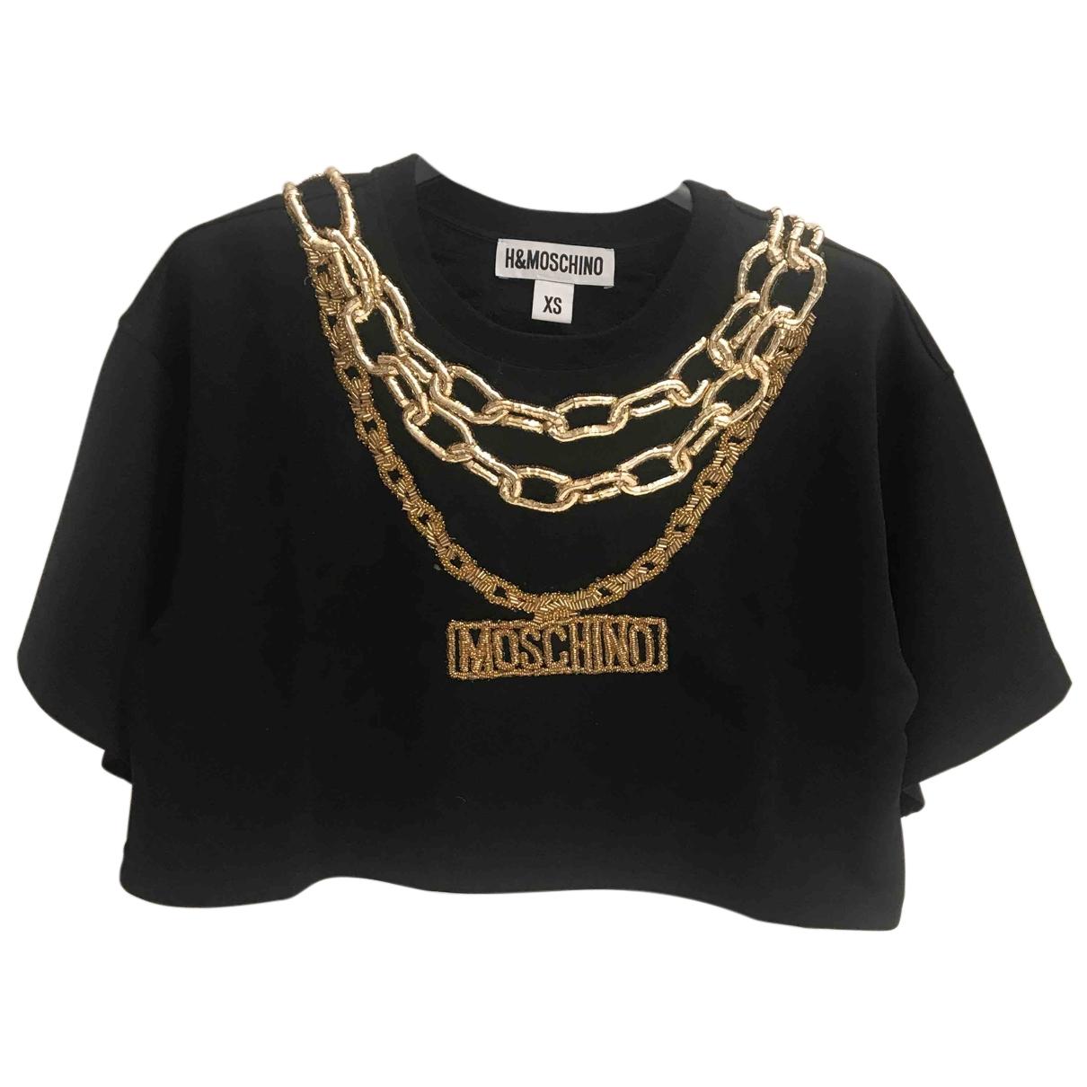 Moschino For H&m - Pull   pour femme en coton - noir