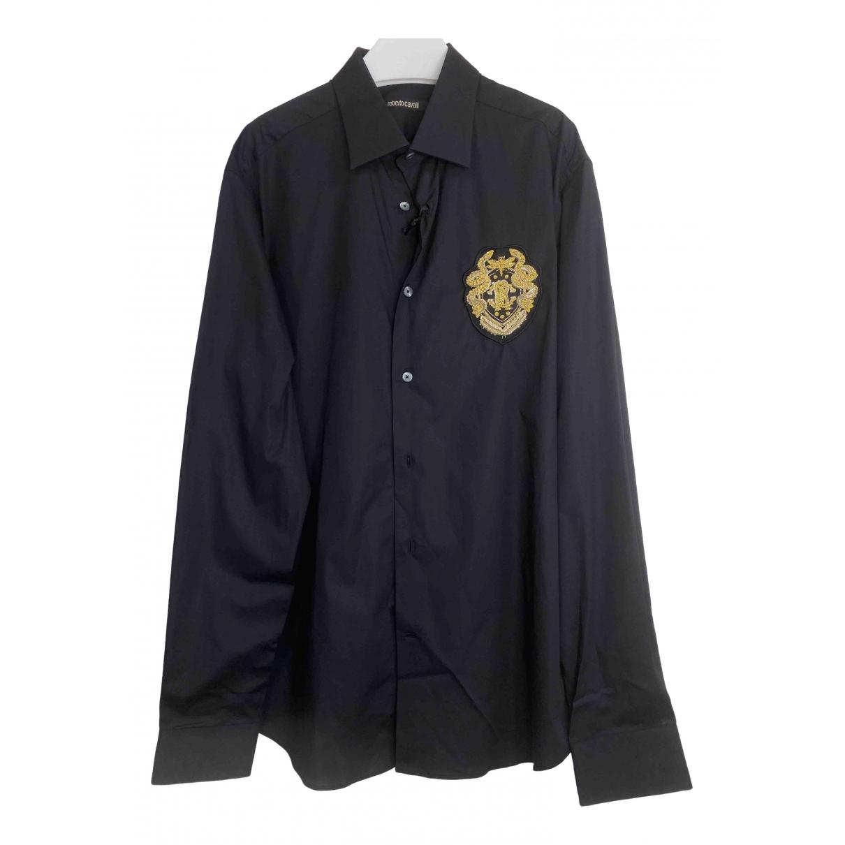 Roberto Cavalli - Chemises   pour homme en coton - noir