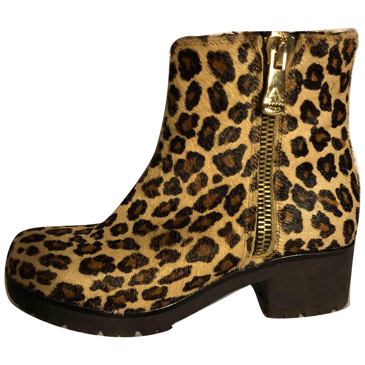 Non Signé / Unsigned \N Pony-style calfskin Ankle boots for Women 37 EU