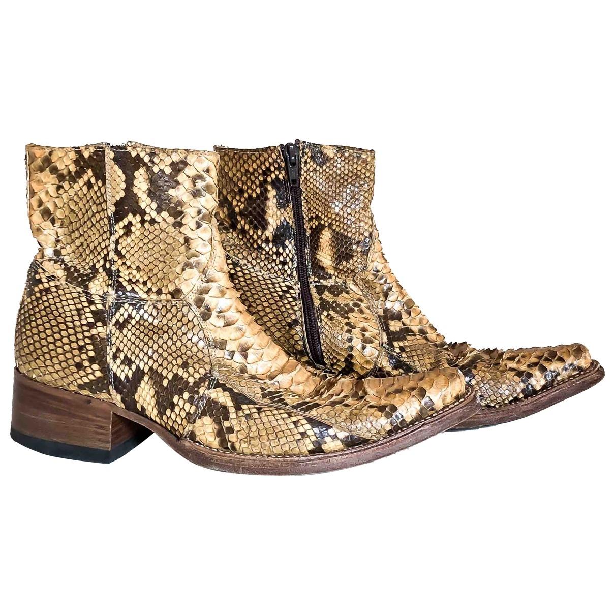 - Boots Hippie Chic pour femme en python