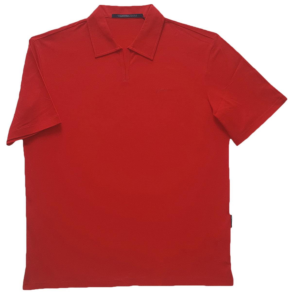 Valentino Garavani - Polos   pour homme en coton - rouge