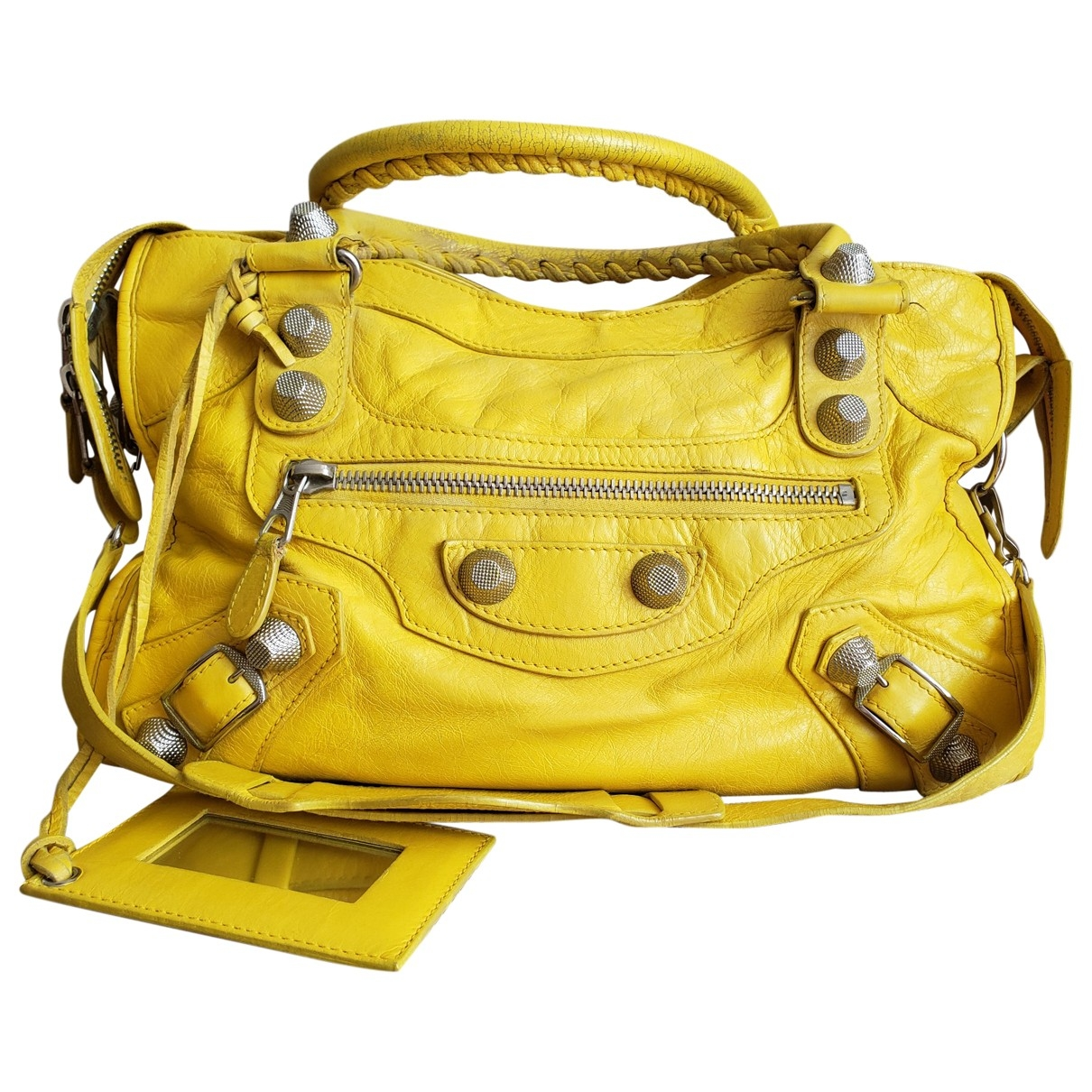 Balenciaga City Yellow Leather handbag for Women \N