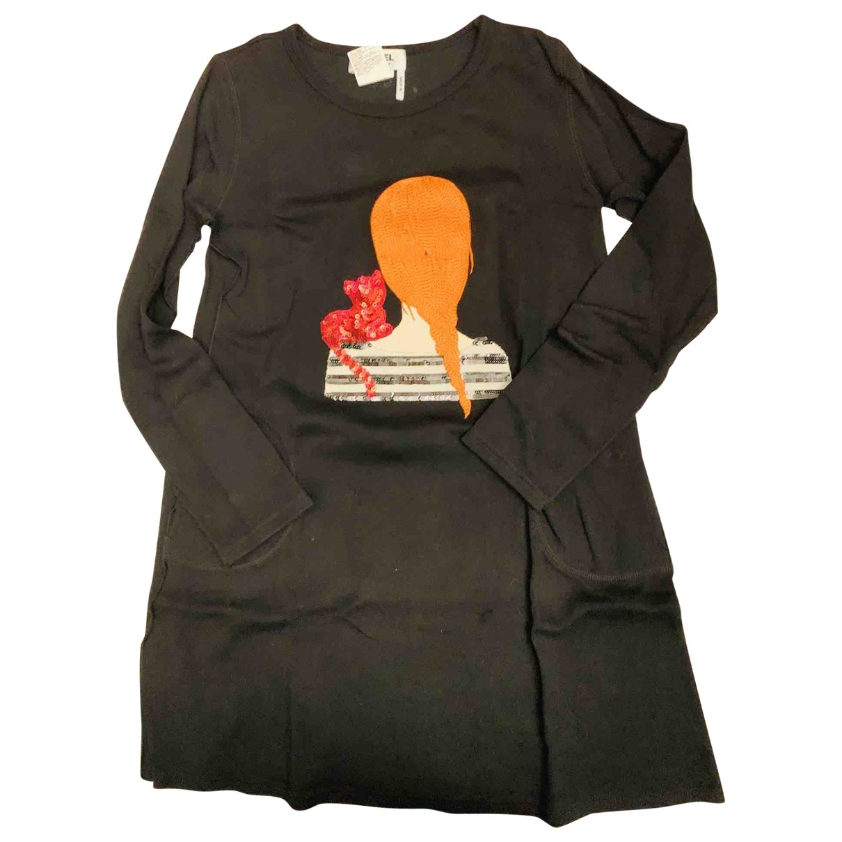 Sonia Rykiel - Robe    pour enfant en coton - noir
