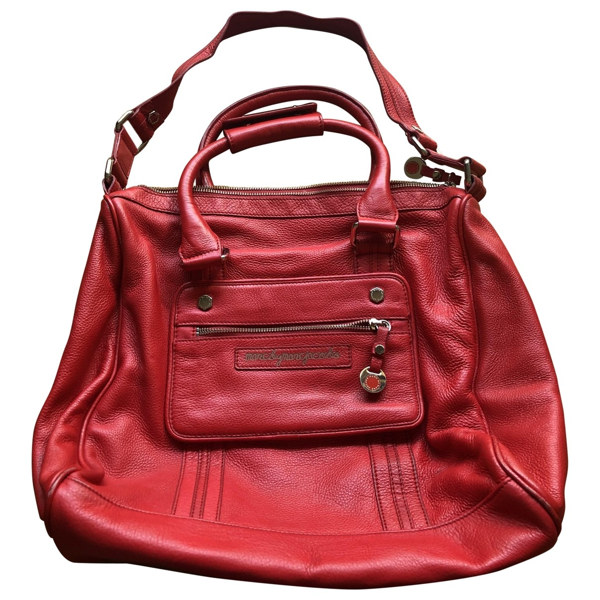 Marc By Marc Jacobs \N Handtasche in  Rot Leder