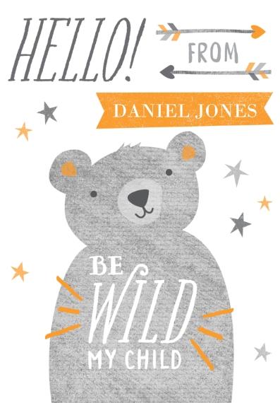 Baby & Kids 3.5x5 Folded Notecard, Card & Stationery -Little Bear Cub