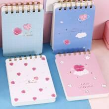 1 Stueck zufaelliges Notizbuch mit Erdbeere Muster