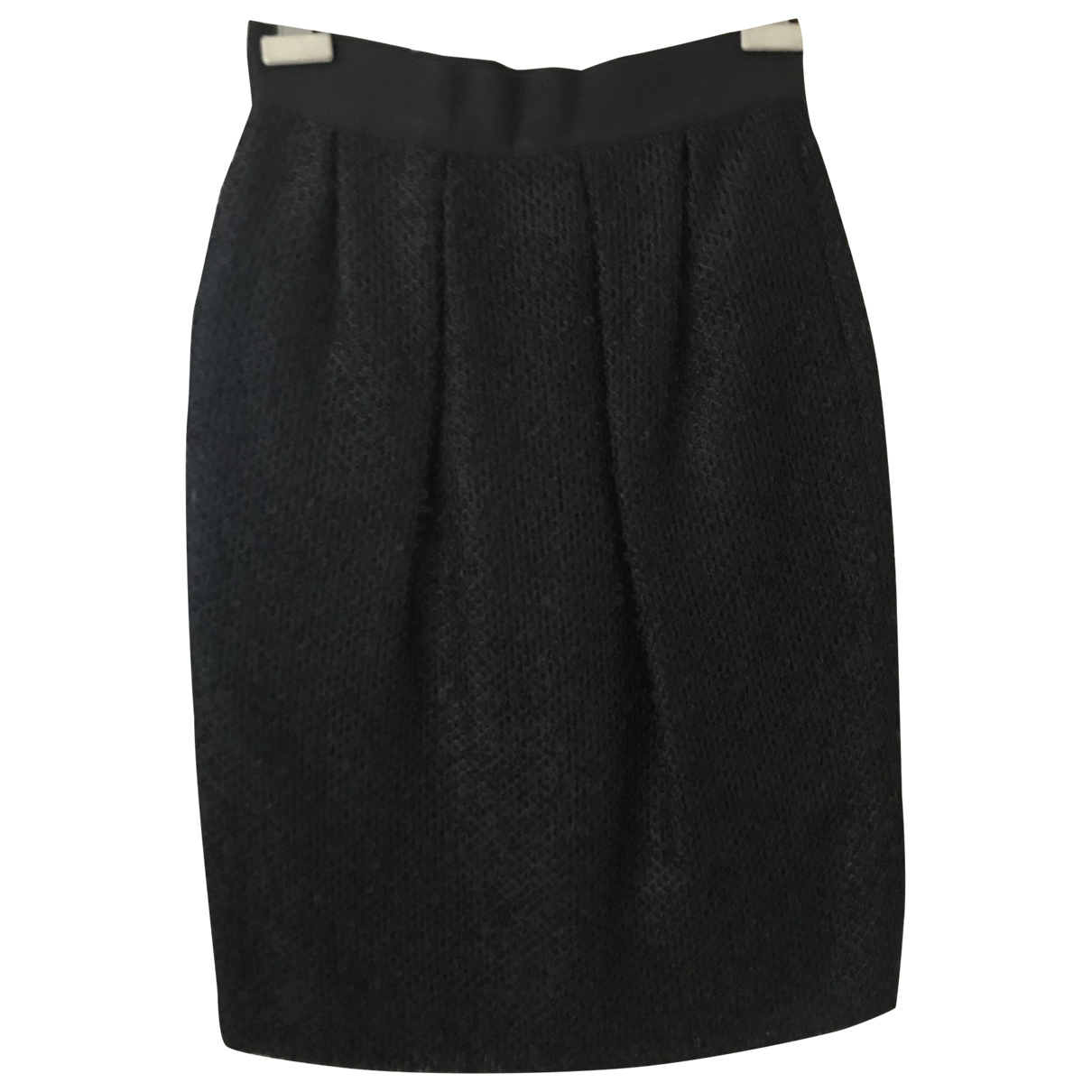 Valentino Garavani \N Black Wool skirt for Women 8 UK