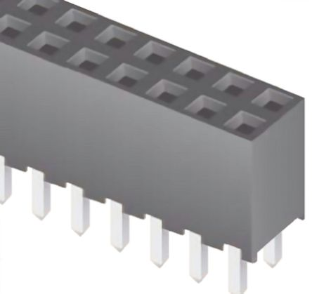 Samtec , SQW 2mm Pitch 20 Way 2 Row Straight PCB Socket, Through Hole, Solder Termination