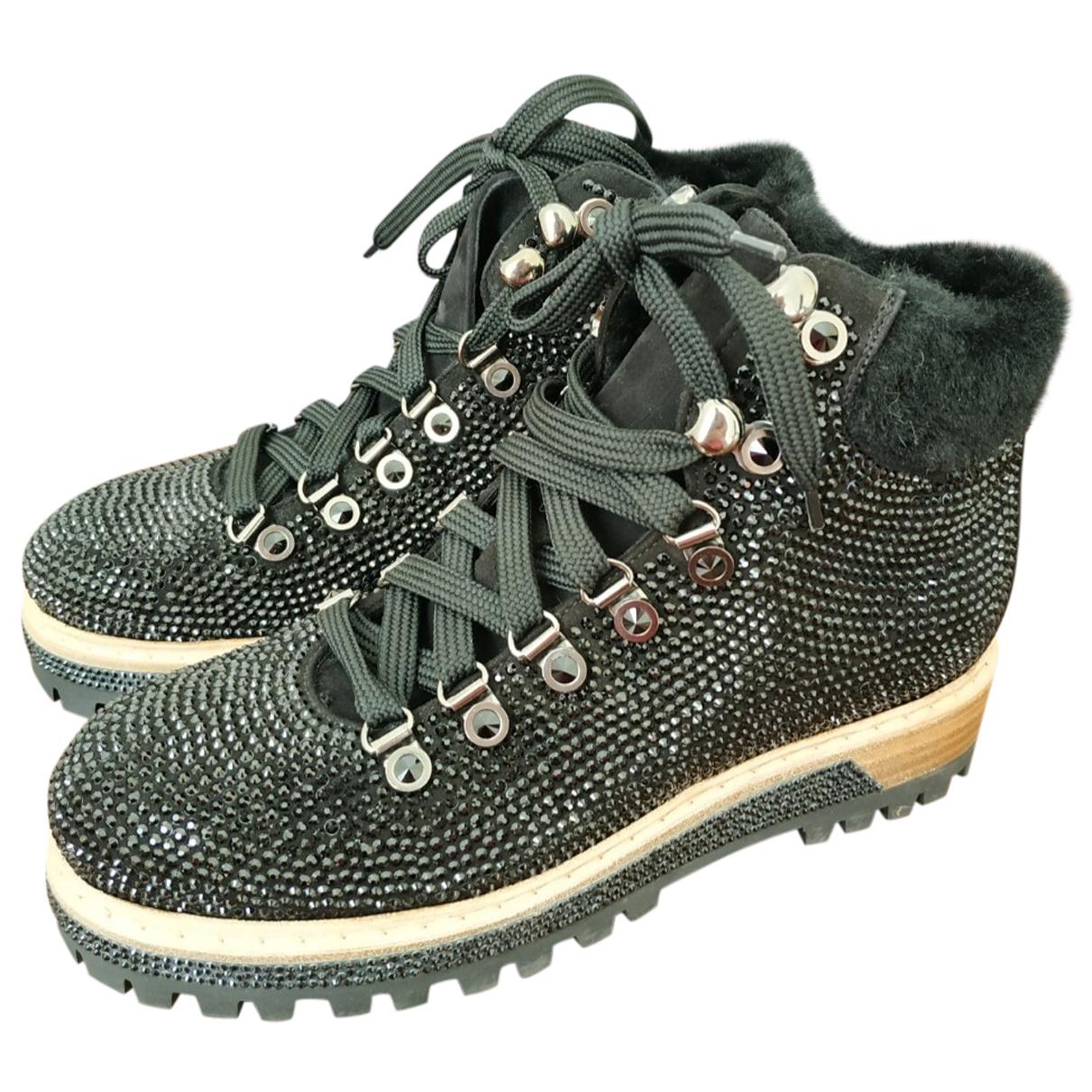 Le Silla - Boots   pour femme en suede - noir