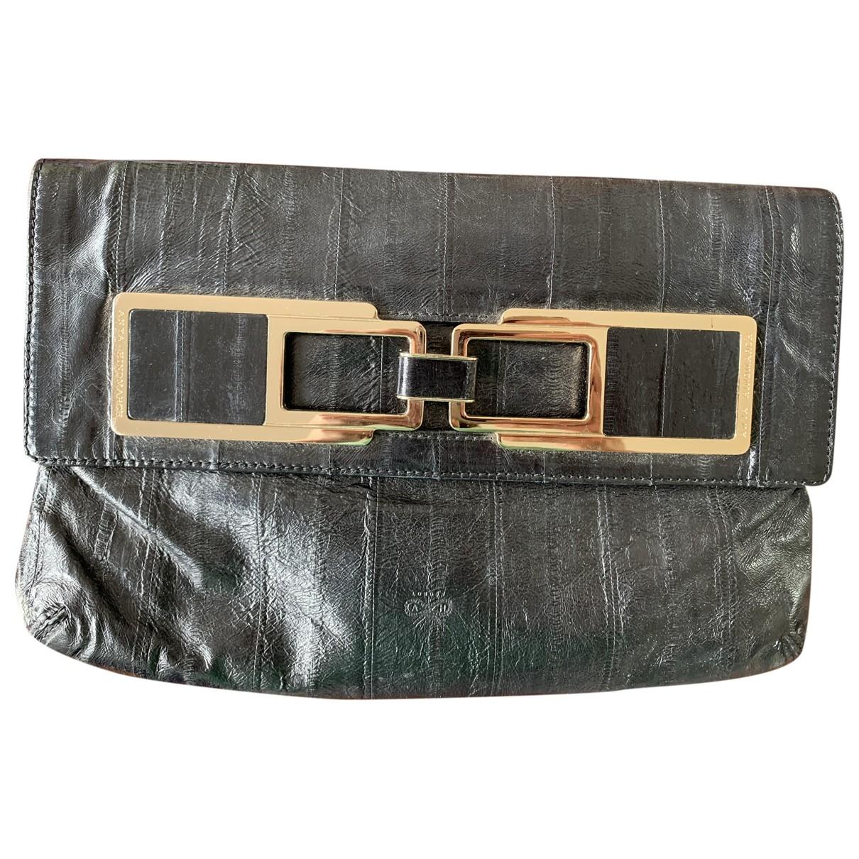 Anya Hindmarch \N Black Exotic leathers Clutch bag for Women \N