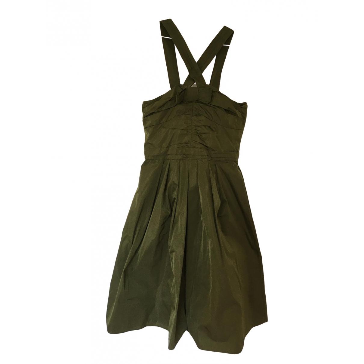 Burberry \N Kleid in  Gruen Seide