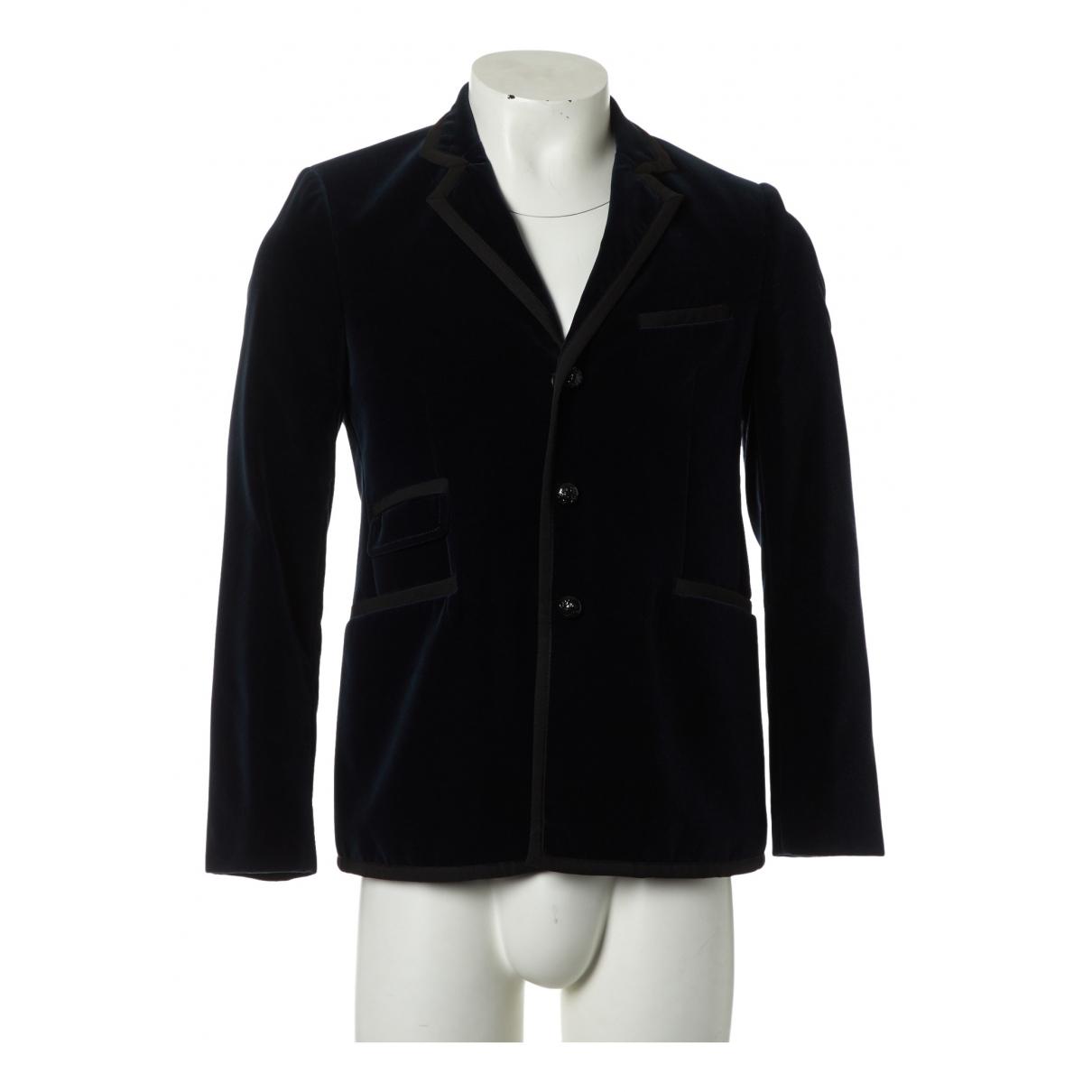 Balenciaga \N Navy Velvet jacket  for Men 50 IT