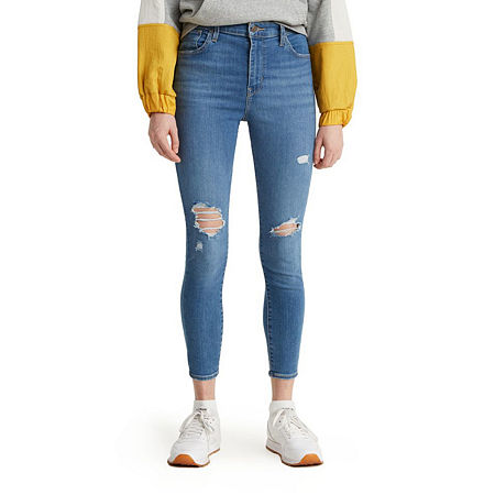 Levi's 720 High Rise Super Skinny Cropped Jean, 28 , Blue