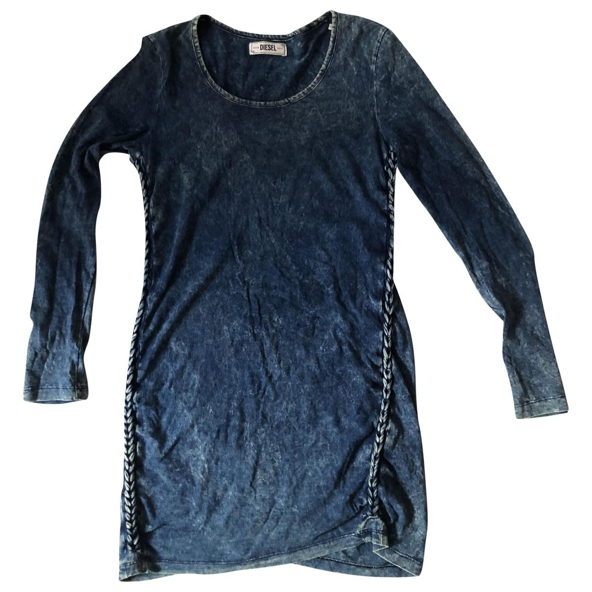 Diesel \N Blue Cotton - elasthane dress for Women 36 FR