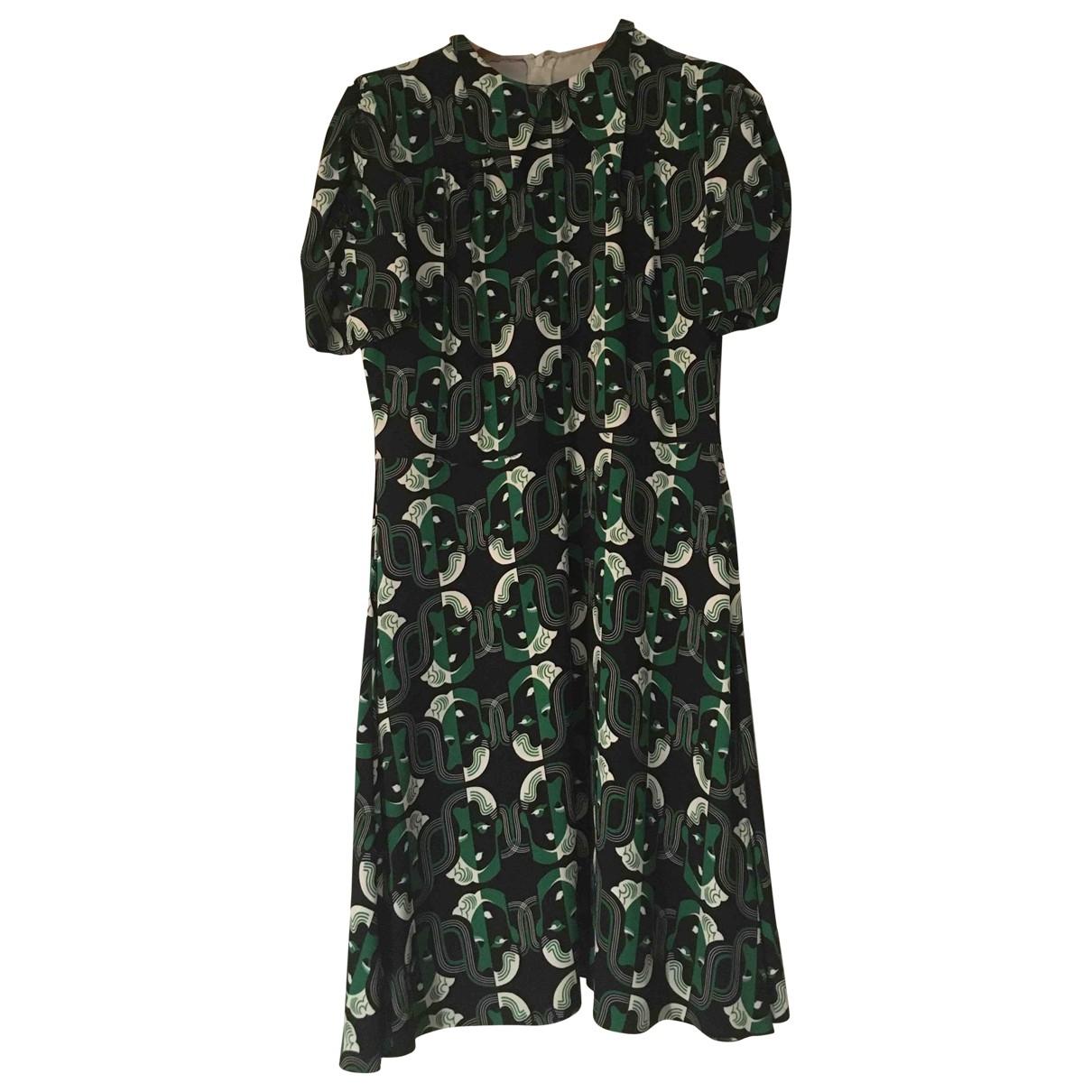 Miu Miu \N Kleid in  Gruen Synthetik