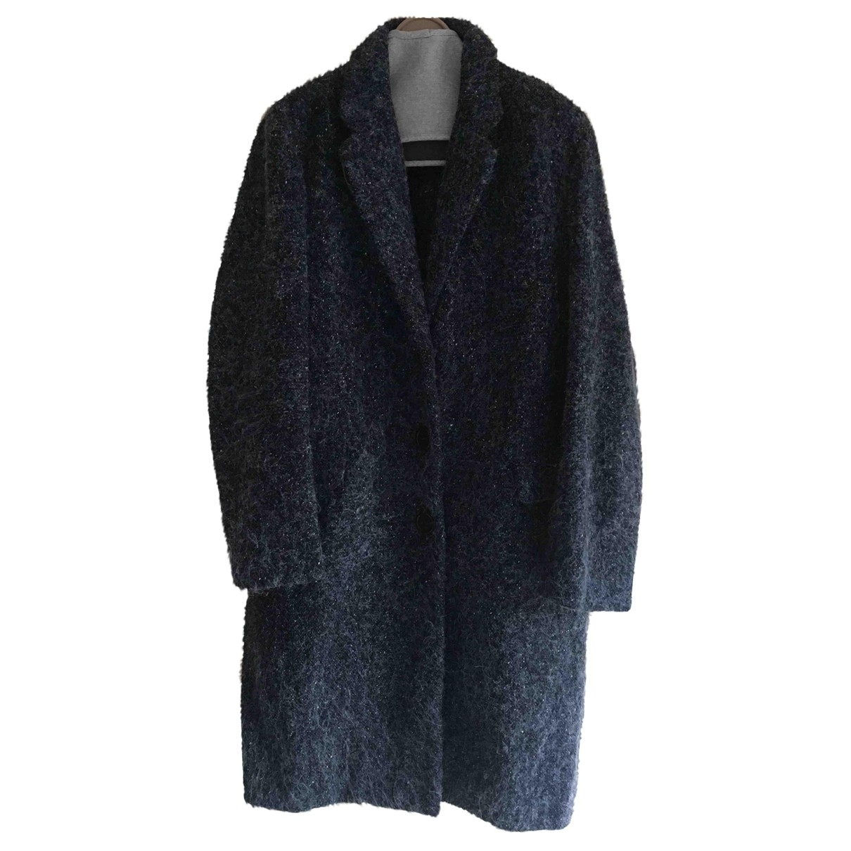 Ermanno Scervino \N Blue Wool coat for Women 44 IT