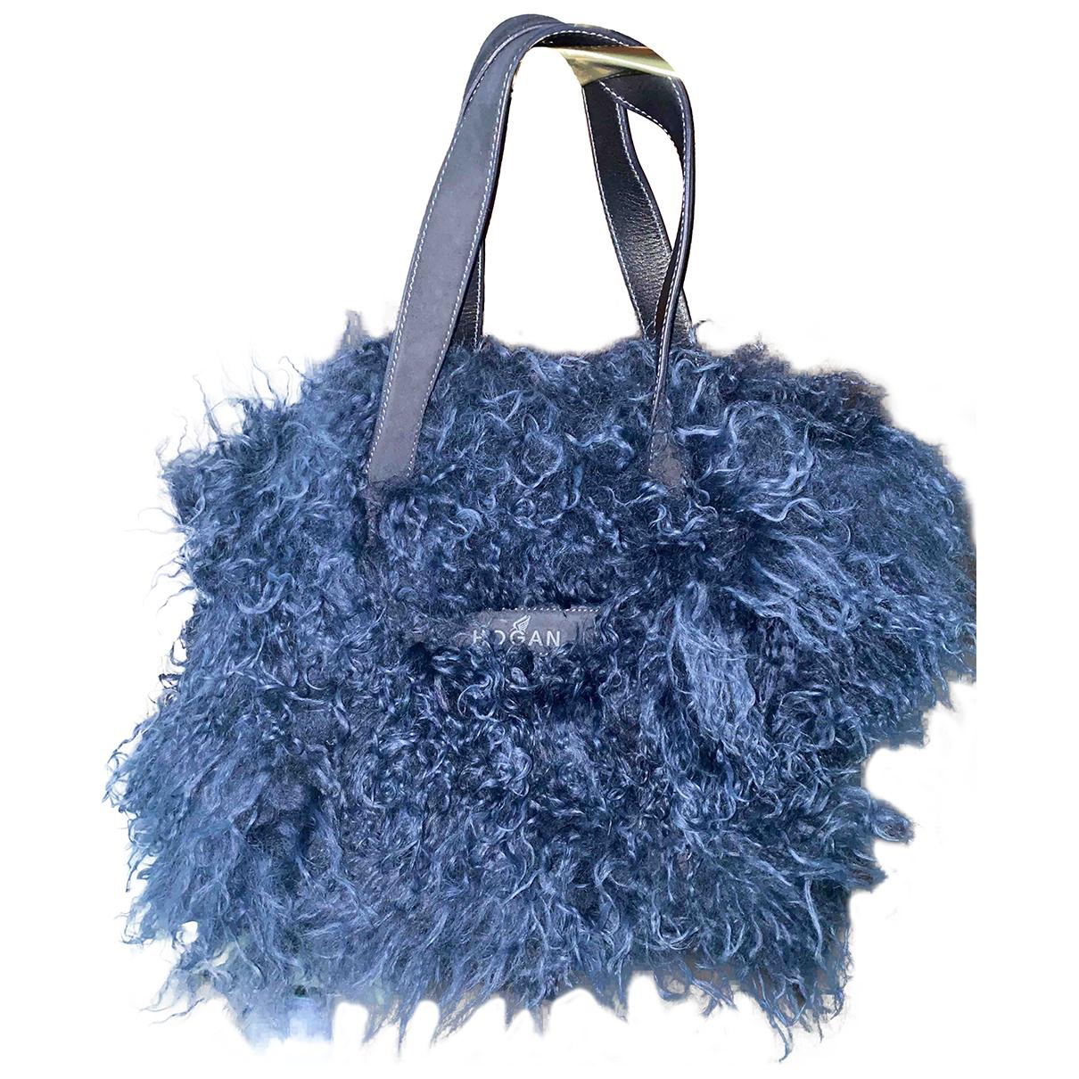 Hogan - Sac a main   pour femme en laine - bleu