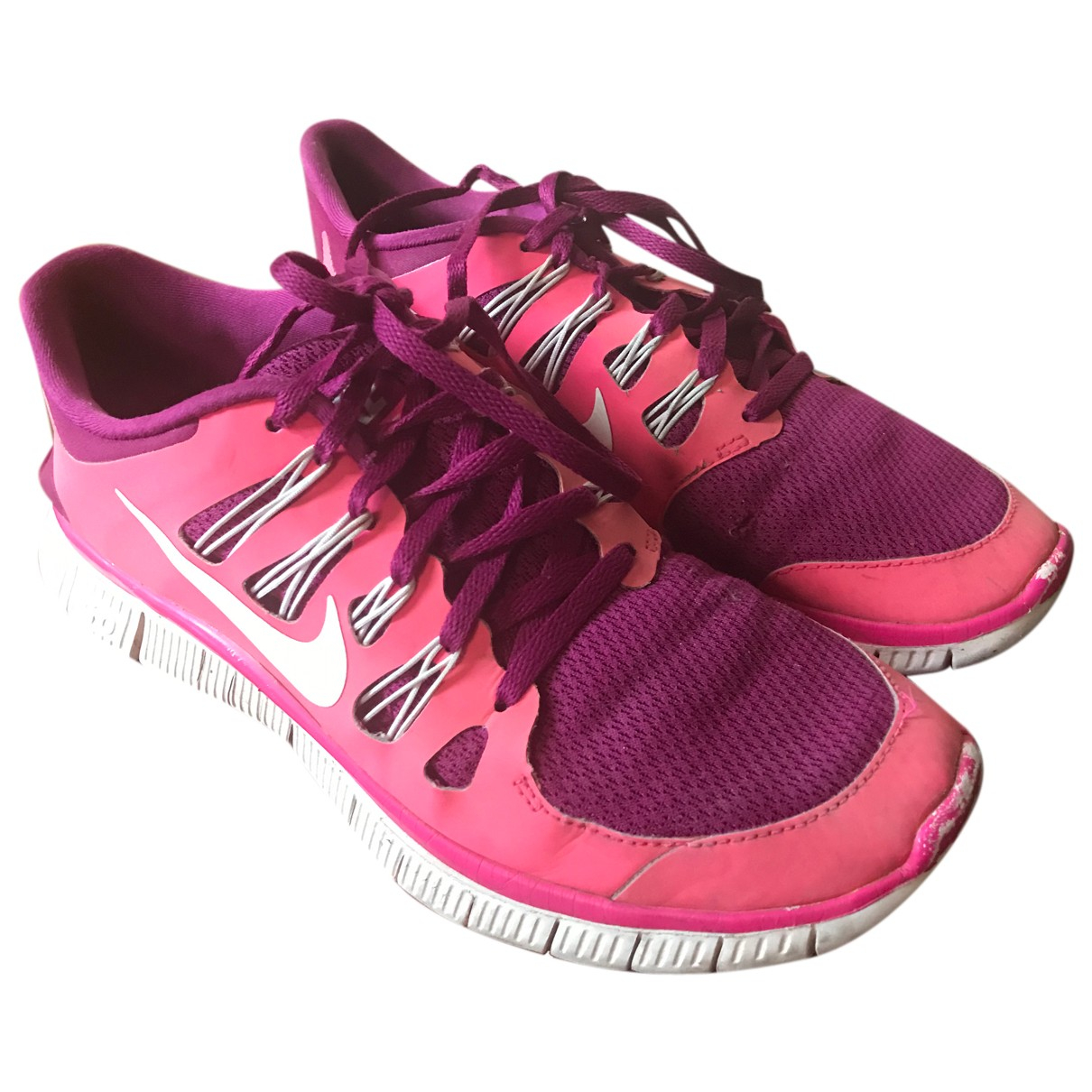 Nike Free Run Sneakers in  Rosa Polyester