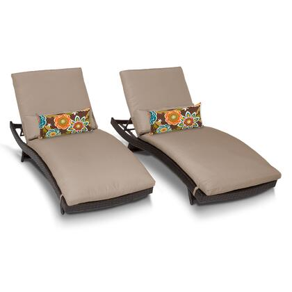 BALI-2x Bali Chaise Set of 2 Outdoor Wicker Patio Furniture with 1 Cover in