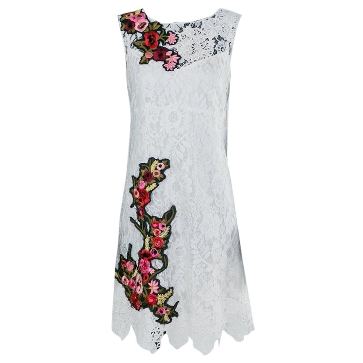 Dolce & Gabbana \N Kleid in  Weiss Polyester