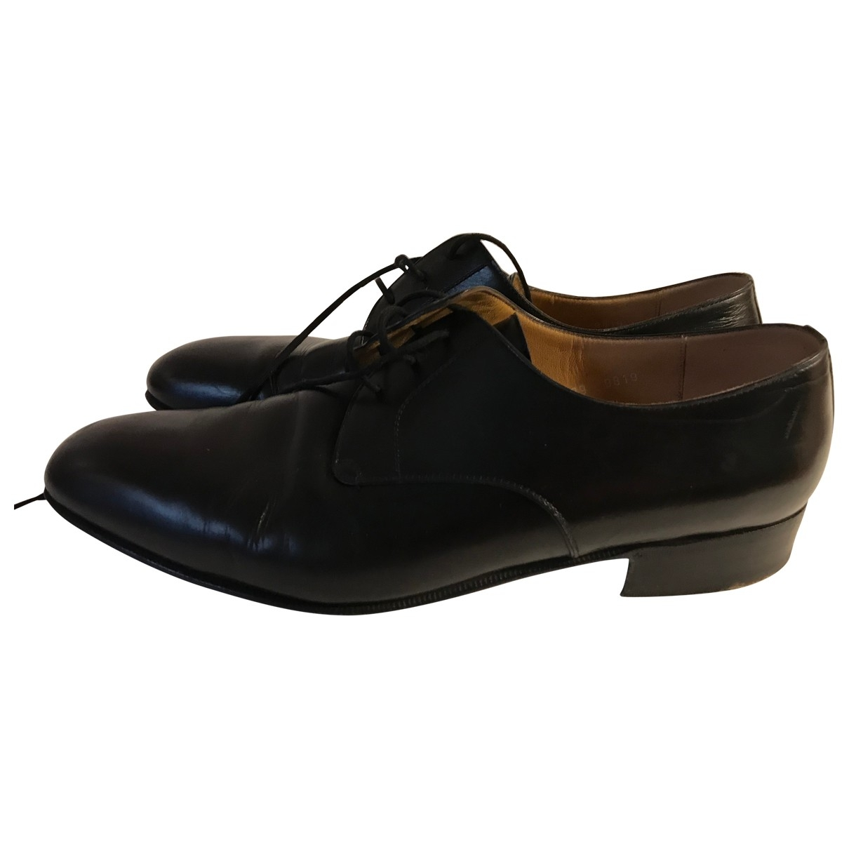 Non Signé / Unsigned \N Black Leather Lace ups for Men 8.5 UK