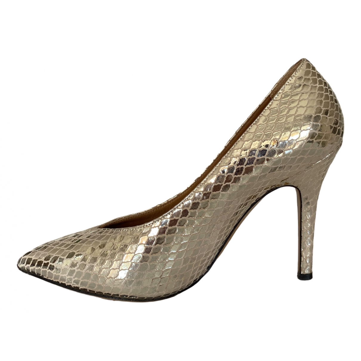 Isabel Marant \N Gold Leather Heels for Women 37 IT