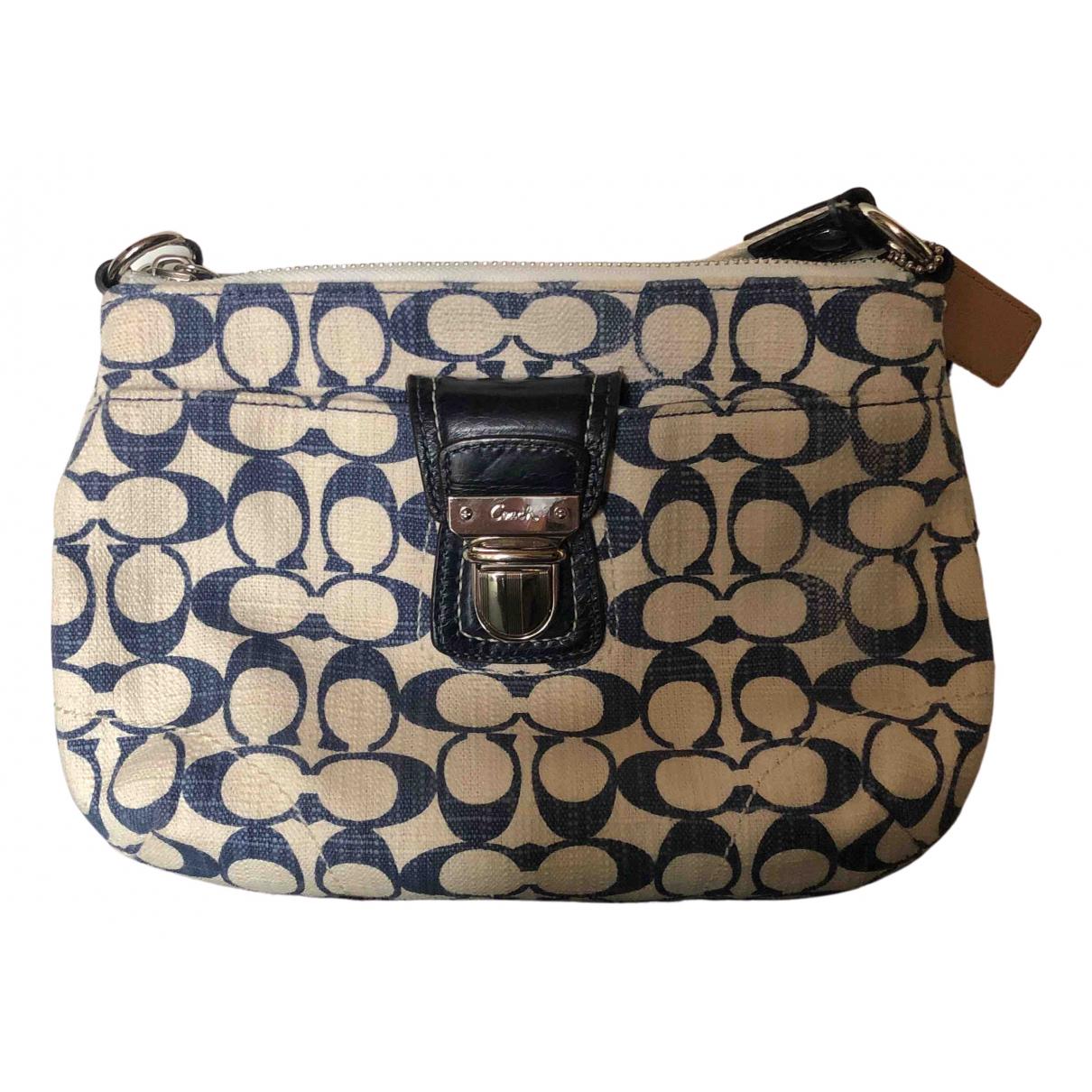 Coach \N Blue Cotton handbag for Women \N