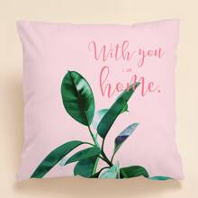Plant Print Cushion Cover Without Filler