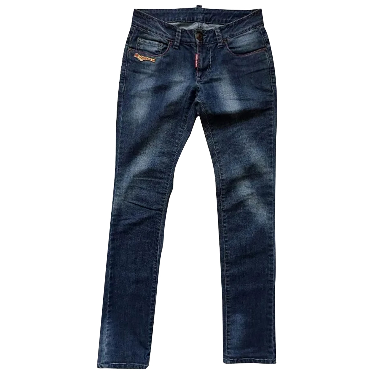 Dsquared2 \N Blue Cotton - elasthane Jeans for Women 27 US