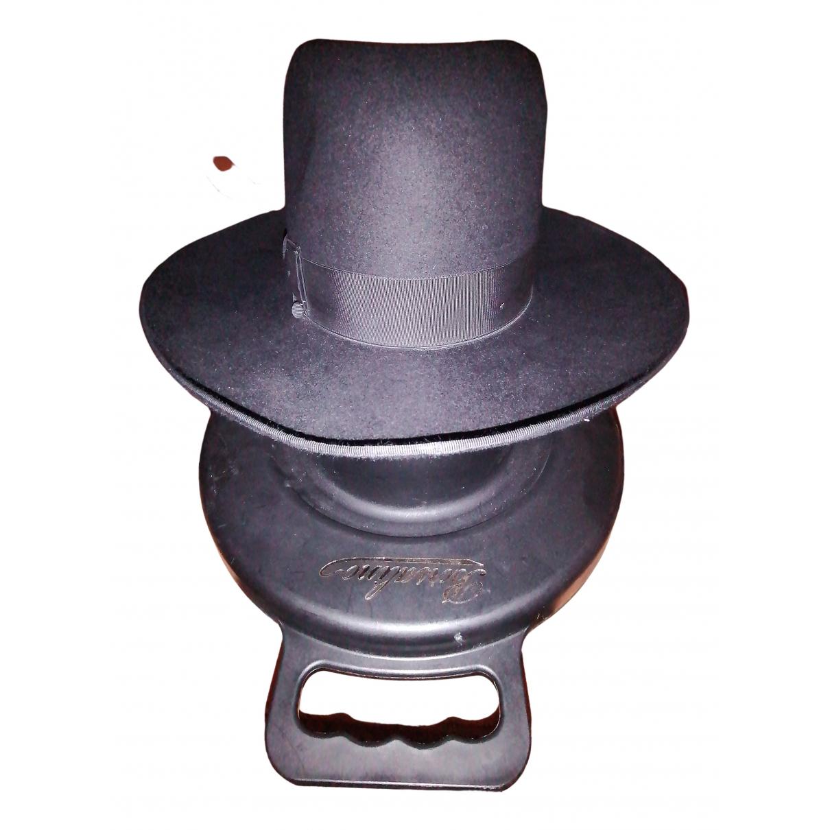 Borsalino - Chapeau & Bonnets   pour homme en coton - noir