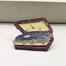 Record Player Design Brooch