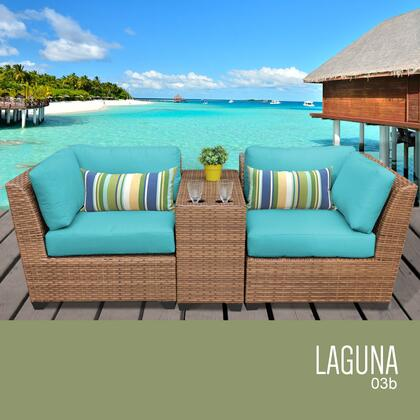 LAGUNA-03b-ARUBA Laguna 3 Piece Outdoor Wicker Patio Furniture Set 03b with 2 Covers: Wheat and