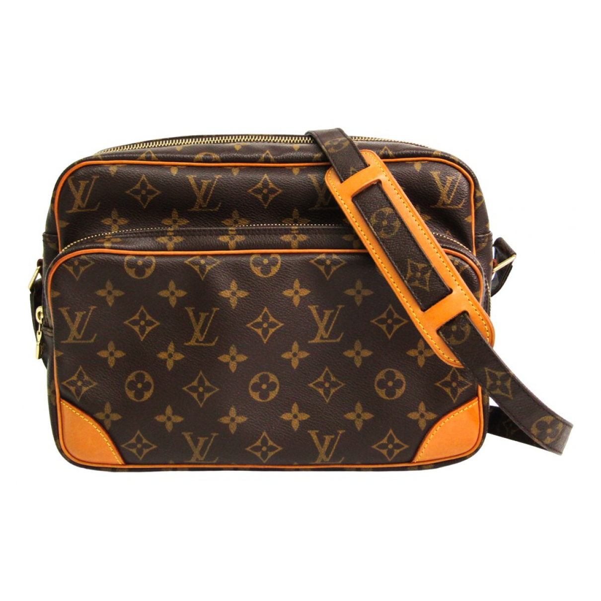 Louis Vuitton Nile Handtasche in  Braun Leinen