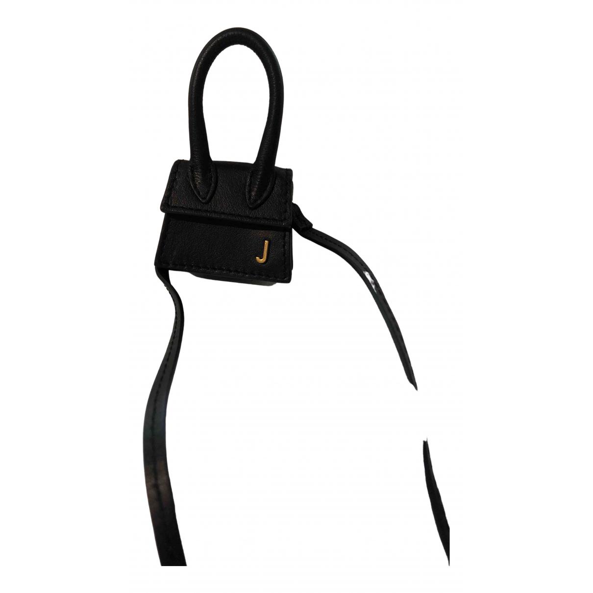 Jacquemus \N Handtasche in  Schwarz Leder