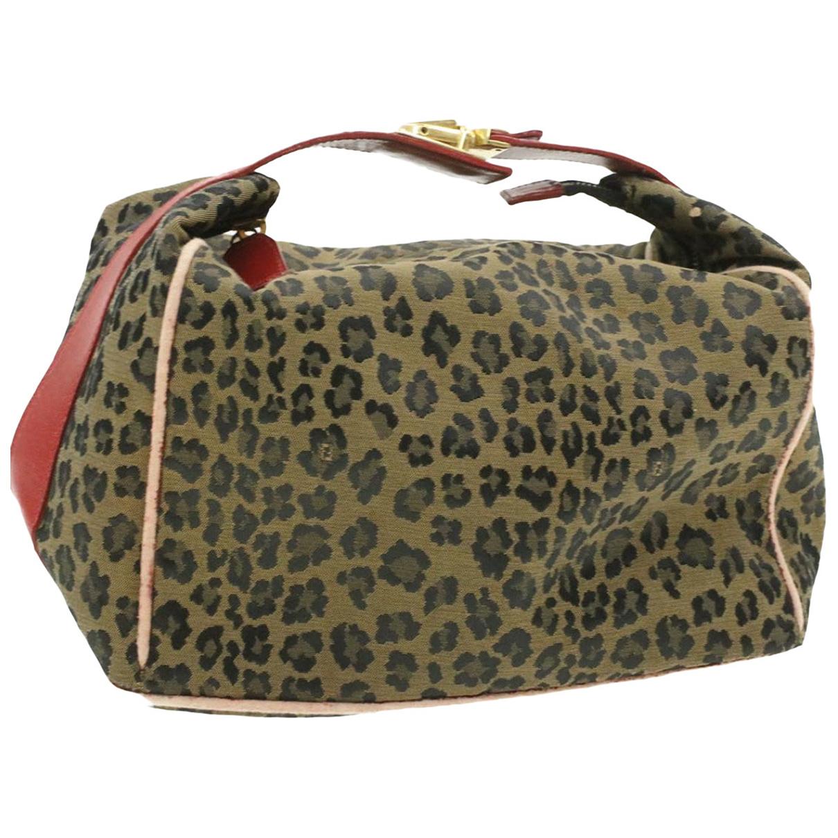 Fendi N Khaki Cloth Clutch bag for Women N