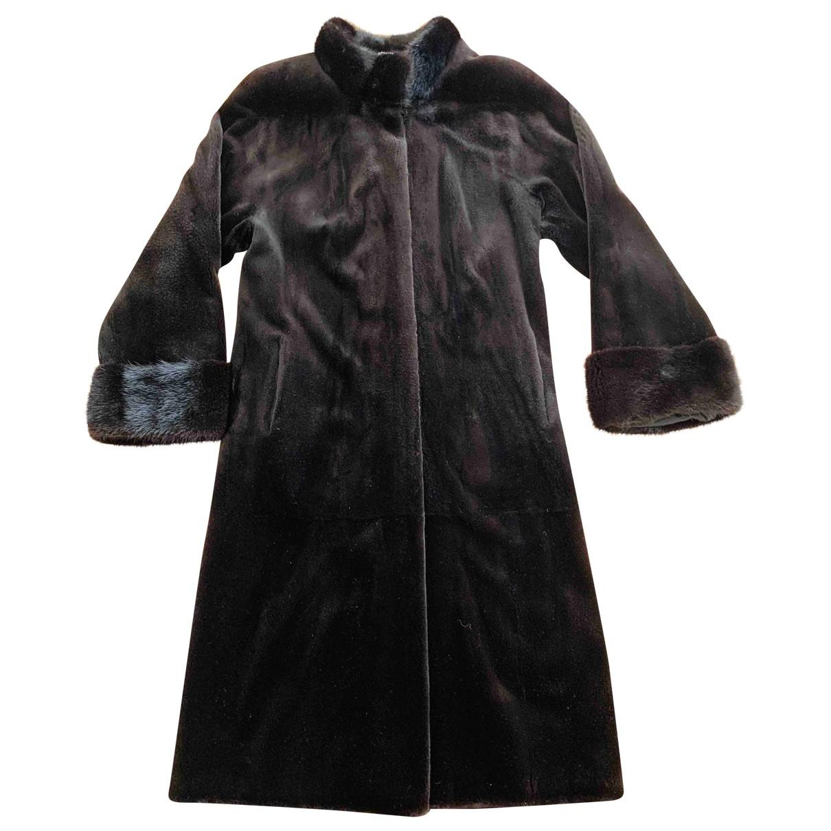 Manzari - Manteau   pour femme en vison - marron