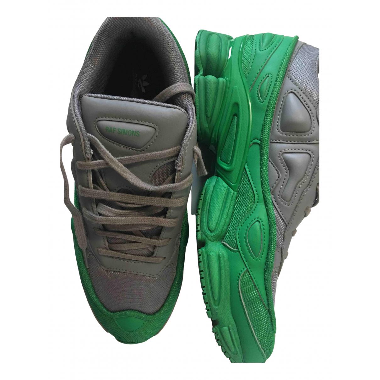 Raf Simons - Baskets   pour homme en toile - vert