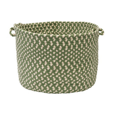 Colonial Mills Montego Braided Indoor or Outdoor Storage Basket, One Size , Green