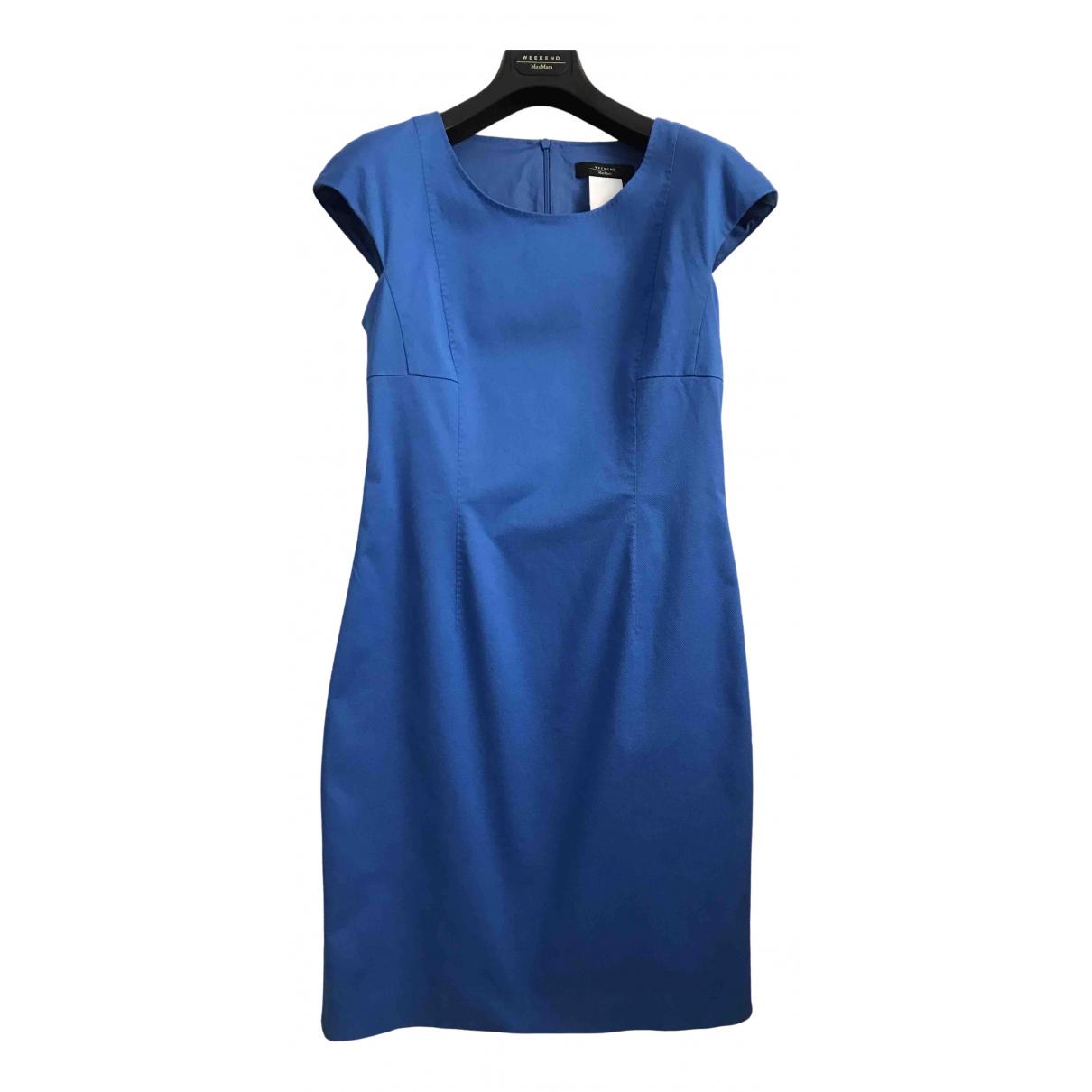 Max Mara Weekend \N Blue Cotton dress for Women 38 FR