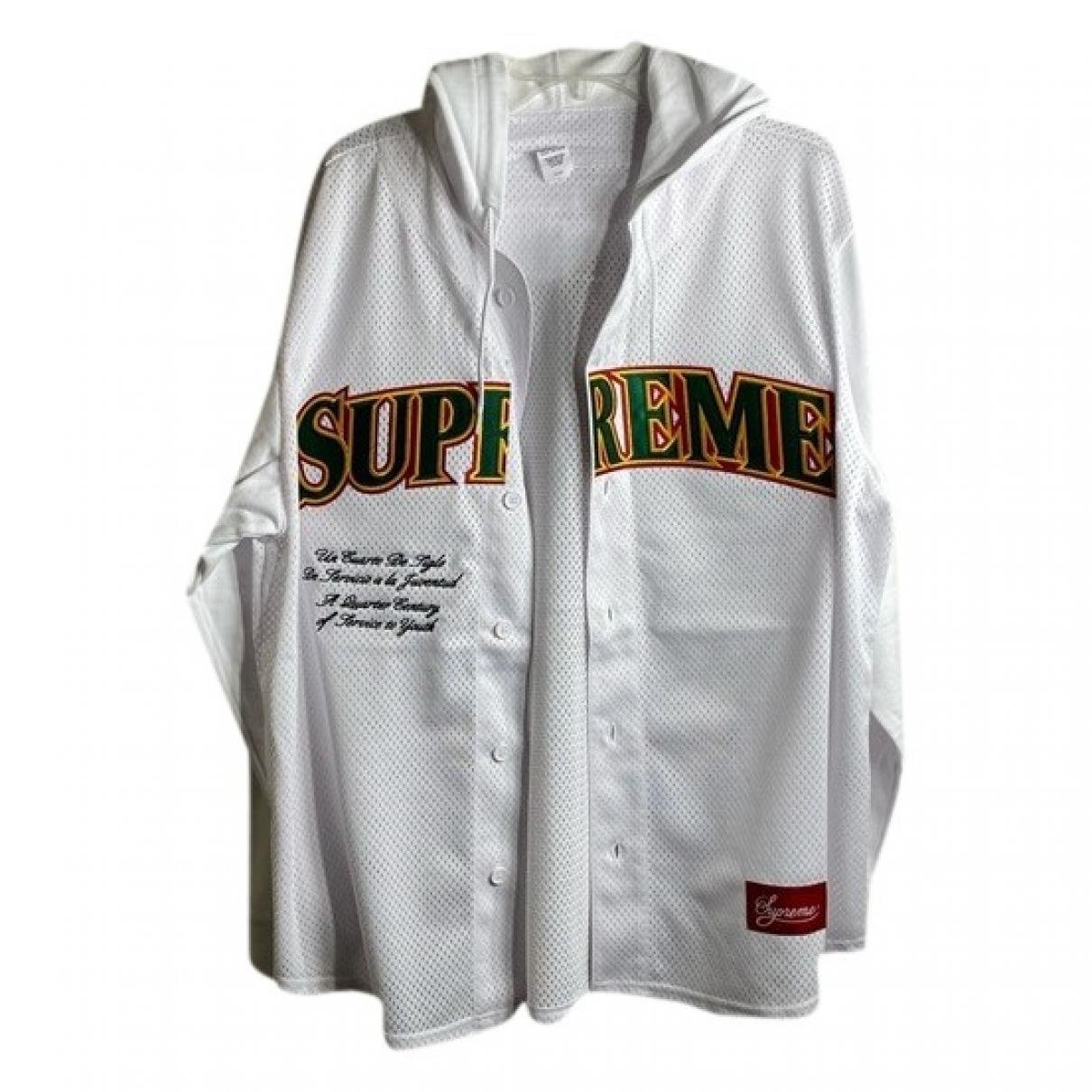 Supreme - Chemises   pour homme en coton - blanc