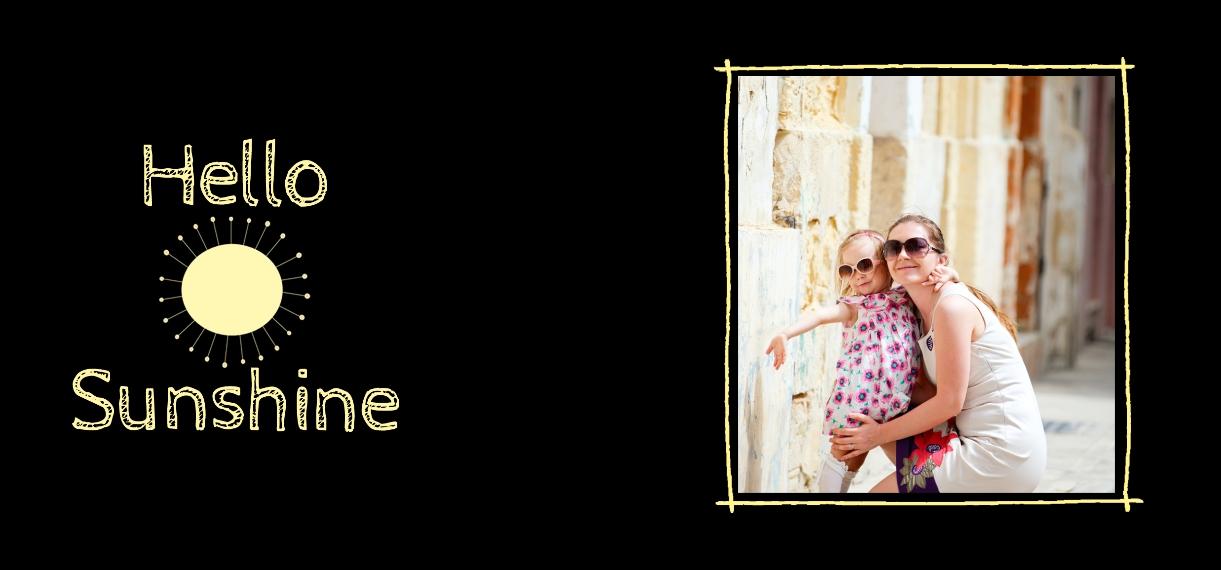 Baby + Kids 11 oz. Navy Accent Mug, Gift -Hello Sunshine