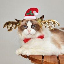 Weihnachten Katze Kopfschmuck mit Hirsch Dekor