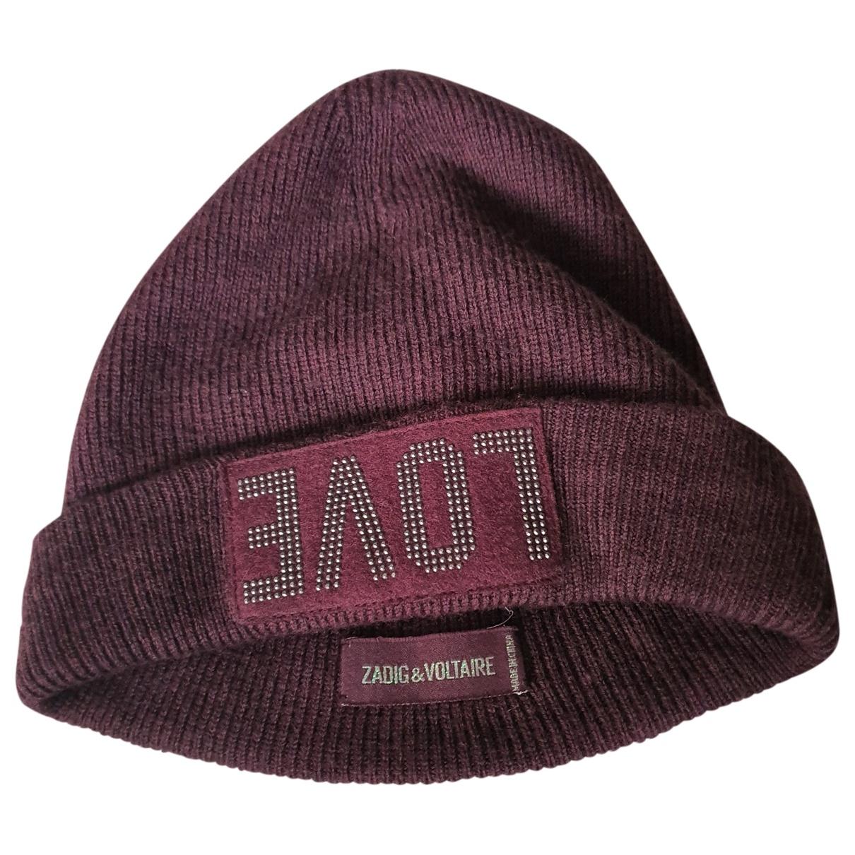 Zadig & Voltaire \N Burgundy Cotton hat for Women S International