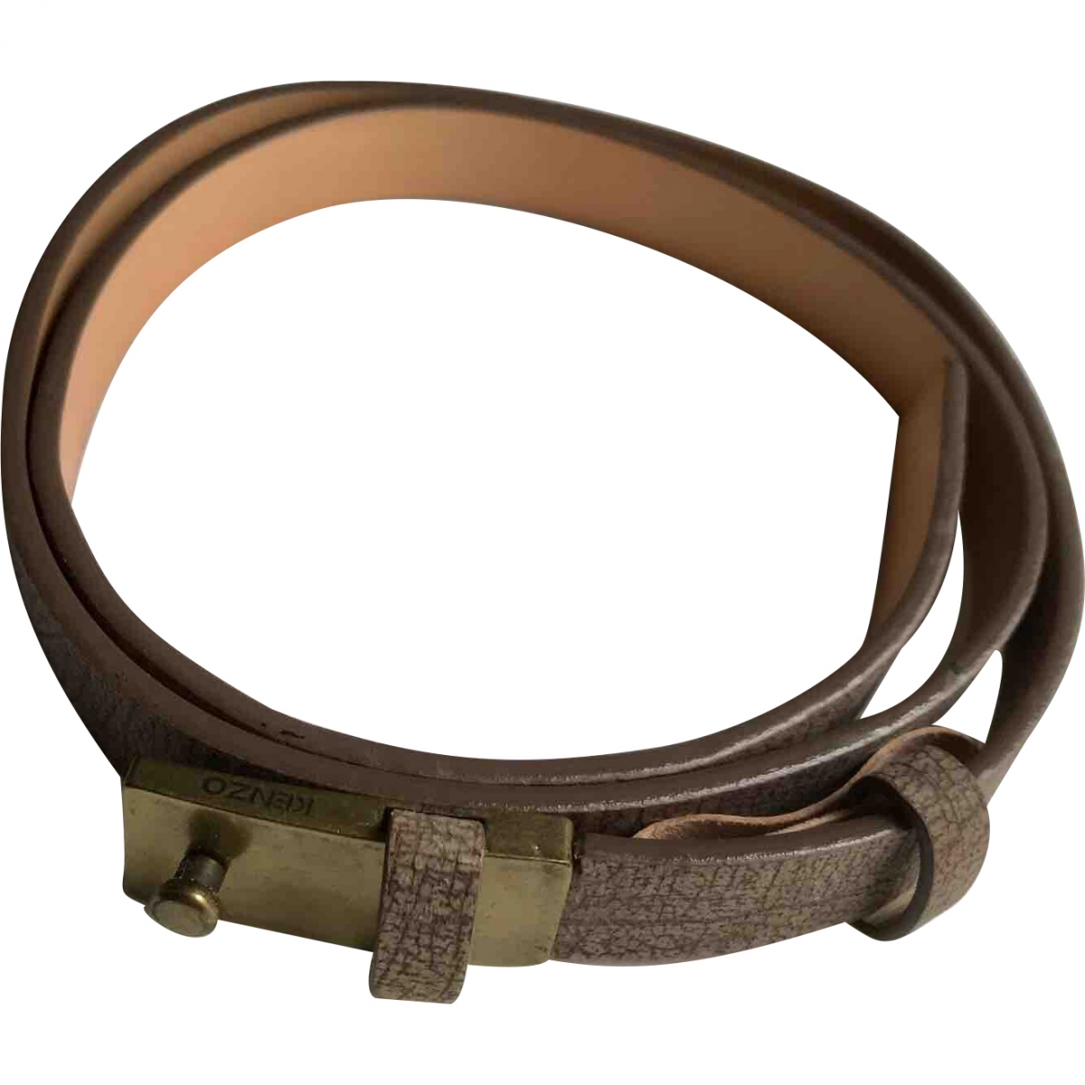 Kenzo \N Beige Leather belt for Men 95 cm