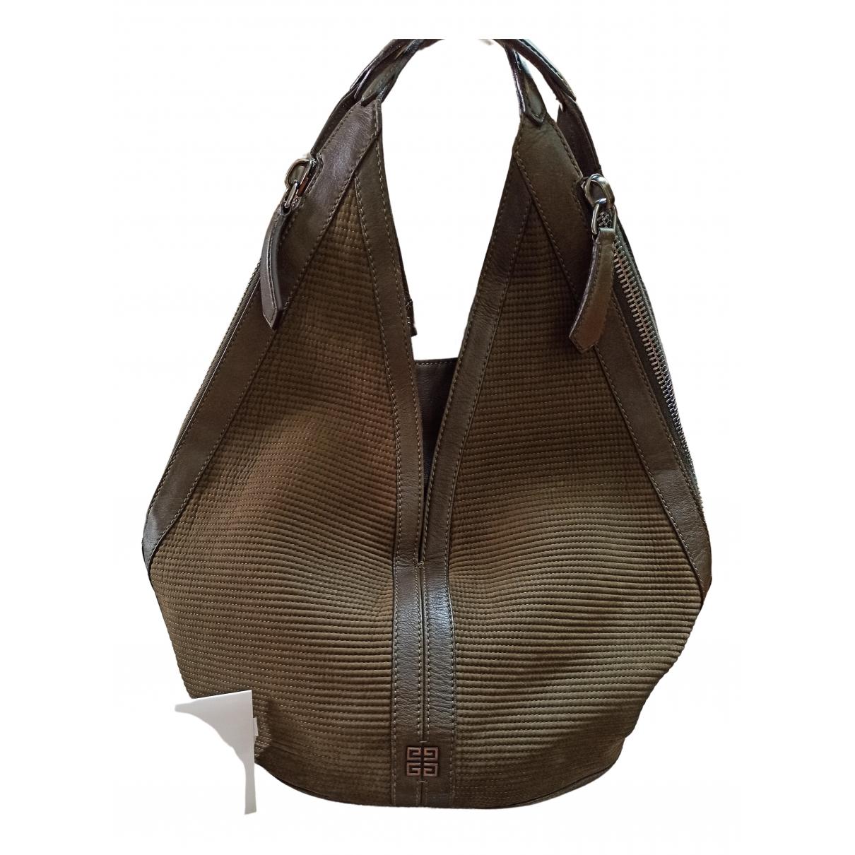 Givenchy \N Handtasche in  Khaki Leder