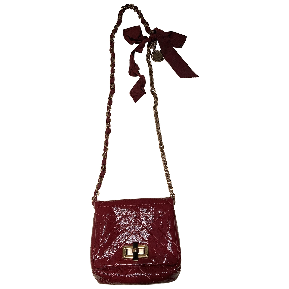 Lanvin Happy Red Leather handbag for Women \N