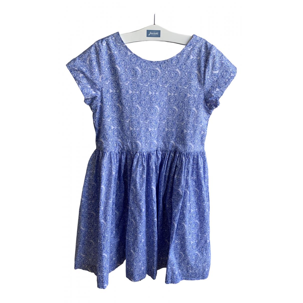 Jacadi \N Kleid in  Blau Baumwolle